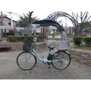 電動自転車、子供のせ等に風よけ、雨除け日よけ屋根(電動用、2重)ニューギャラG|coropokkuru|06