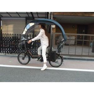 電動アシスト自転車、チャイルドシートのカバー 黒色生地の子供...
