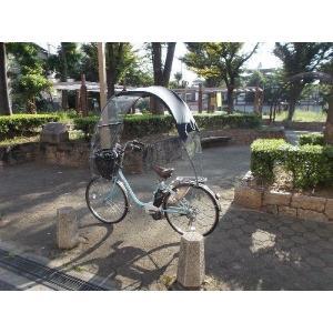 電動アシスト自転車 子供のせ自転車 屋根、日よけ、雨除け、黒...