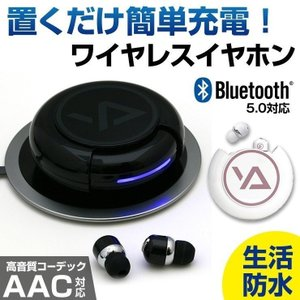 ワイヤレスイヤホン 両耳 コードなし 高音質 防水 スポーツ用 分離 完全 独立型 カナル型 ワイヤレス充電 iPhone AAC マイク 通話 ハンズフリー Bluetooth5.0 coroya