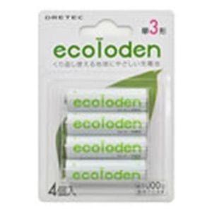 ドリテック エコロでん 単3 充電池 4本パック グリーン|coroya