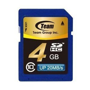 SDカード 4GB class10 秒速最大20MB TEAM チーム SDHC TG004G0SD28K|coroya