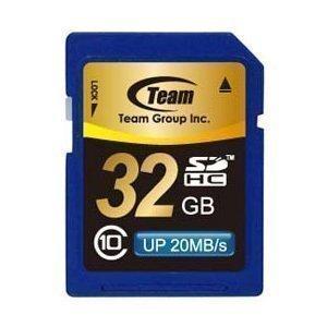 SDカード 32GB class10 秒速最大20MB TEAM チーム SDHC TG032G0SD28K