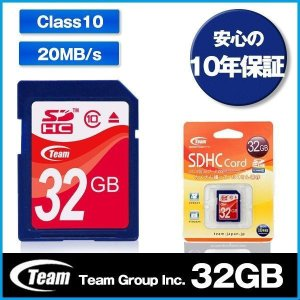 SDカード 32GB class10 TEAM チーム SD...
