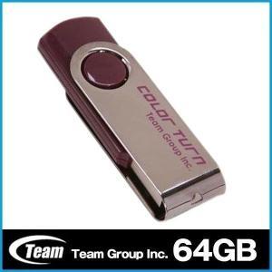 USBメモリ メモリー 64GB 回転式 TEAM チーム ...