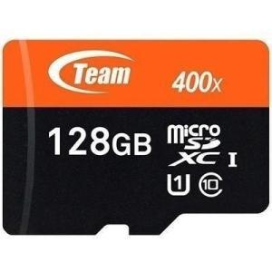 マイクロSDカード 128GB microSDカード UHS-I対応 TEAM チーム SD変換アダプタ付 SDXC TUSDX128GUHS03|coroya