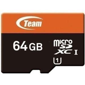 マイクロSDカード 64GB UHS-I対応 TEAM SD変換アダプタ付 おしゃれ