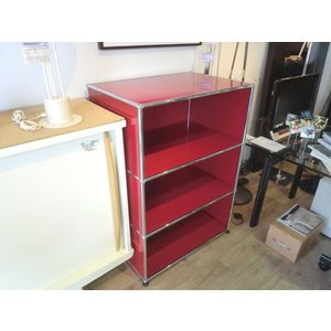 USM Modular Furniture Haller/キャビネットシェルフ 赤|correr