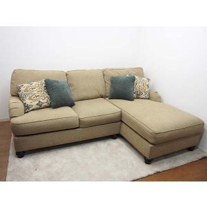 Ashley Furniture HomeStore(アシュレイ)/カウチソファ コーナーソファ ファブリック 布製 ベージュ クッション付|correr