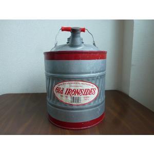 IRON SIDES/ヴィンテージ ガソリン缶 オイル缶 シルバー correr