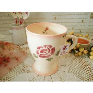 【マニーローズ】 ベルマグ ピンク / 日本製 バラ 薔薇 マグカップ corrette-anise