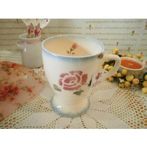 【マニーローズ】 ベルマグ ブルー / 日本製 バラ 薔薇 マグカップ corrette-anise