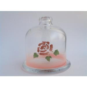 【マニーローズ】 ガラス プチドーム / 薔薇 保存 ピンク corrette-anise