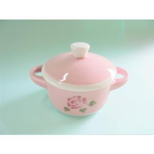【マニーローズ】 ミニミニココット / 日本製 薔薇 ピンク 卓上 ラップいらず corrette-anise