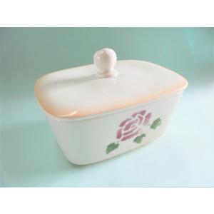 【マニーローズ】 ウェットシートボックス 陶器 / 日本製 薔薇 容器 バラ柄 花柄 トイレ corrette-anise