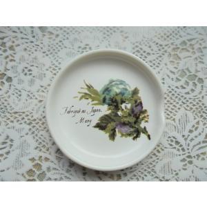 【マニー ブルーローズ】 スプーンレスト / 日本製 箸置き 花 バラ 陶器 corrette-anise