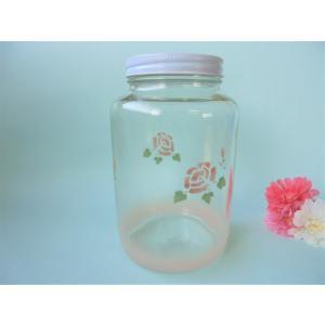 【マニーローズ】 ガラス 密封ビンLL / 薔薇 保存 ピンク|corrette-anise