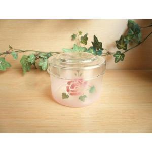 【マニーローズ】 ガラス キャニスターS / 薔薇 ピンク 小物入れ 容器|corrette-anise