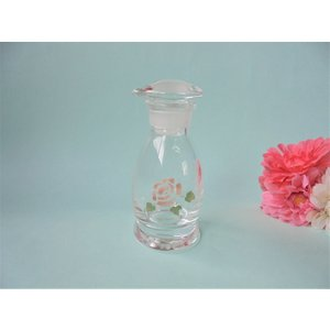 【マニーローズ】 ガラス キッチンソイソースS / 薔薇 ピンク 醤油さし corrette-anise