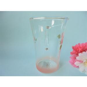 【マニーローズ】 ガラス 耐熱トールマグ / 薔薇 ピンク|corrette-anise|04