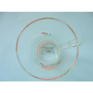 【マニーローズ】 ガラス 耐熱トールマグ / 薔薇 ピンク|corrette-anise|05
