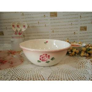 【マニーローズ】 ホーロー クッキングボール S 小さいボウル / 小さめ 日本製 薔薇 料理ボウル 台所用品 ボール 花柄 ピンク たまご|corrette-anise