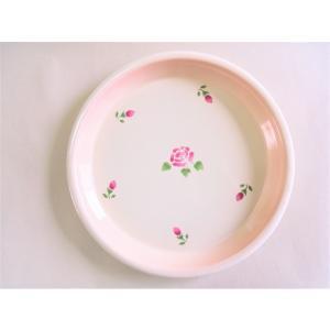 【マニーローズ】 ホーロー ラウンドミニトレー / 日本製 薔薇 キッチン雑貨 バラ柄 花柄 ピンク トレイ 盆 丸盆 おやつ ティータイム おもてなし corrette-anise