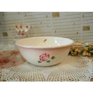 【マニーローズ】 ホーロー クッキングボウルM / 薔薇柄 日本製 ピンク|corrette-anise