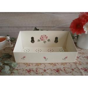 【マニーローズ】 ホーロー スポンジラック / 薔薇柄 日本製 ピンク corrette-anise
