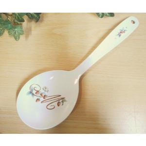 【マニー レールデュロココ】 ホーロー とりわけスプーンL / 日本製 イチゴ ストロベリー|corrette-anise