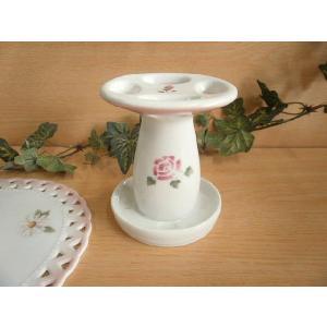【マニーローズ】 BG 歯ブラシスタンド / 日本製 薔薇 歯磨き バラ柄 花柄 ピンク|corrette-anise