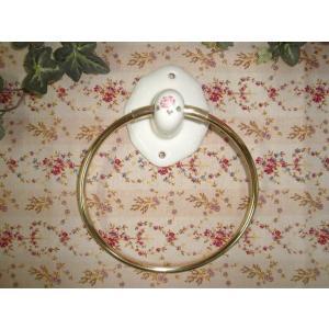 【マニーローズ】 タオルリング / ホルダー 日本製 タオルハンガー バラ|corrette-anise