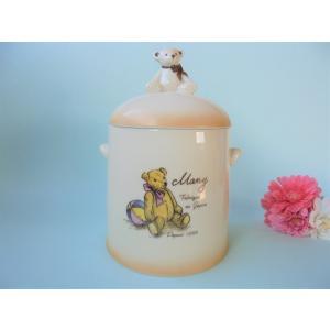 【マニー テディベア】 サニタリーポット / 日本製 陶器 クマ ゴミ箱 トイレ 洗面台 corrette-anise
