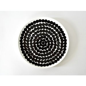 marimekko マリメッコ SIIRTOLAPUUTARHA シールトラプータルハ ブラック プレート お皿 20cm 食器 ギフト|cortina