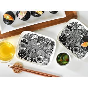 マリメッコ 食器 SIIRTOLAPUUTARHA シールトラプータルハ marimekko プレート 15×12cm 北欧 食器 北欧デザイン ギフト キッチン用品|cortina