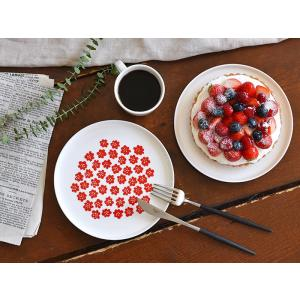 マリメッコ プレート お皿 プケッティ 北欧 marimekko PUKETTI レッド 北欧食器 ギフト|cortina