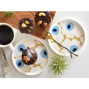 marimekko マリメッコ UNIKKO ウニッコ ベージュ×ブルー プレート お皿 13.5cm ギフト キッチン用品 プレゼント 結婚祝い 女性 出産祝い 引っ越し祝い|cortina