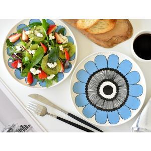 SALE マリメッコ 食器 KESTIT ケスティト ブルー marimekko キッチン用品 プレート 直径20cm 北欧 食器 プレゼント 結婚祝い 女性 友達|cortina