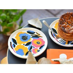 マリメッコ プレート お皿 marimekko ロサリウム ROSARIUM ピンク 食器 北欧 花柄 ギフト|cortina