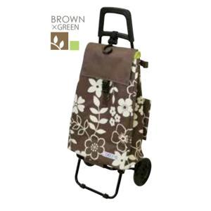 レップ COCORO(コ・コロ) ショッピングカート フラワー カートセット BROWN 424421 coserekuto
