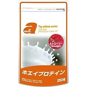 アルプロン WPCホエイプロテイン ストロベリー 250g/サプリメント 健康食品 ヘルシーライフ ...