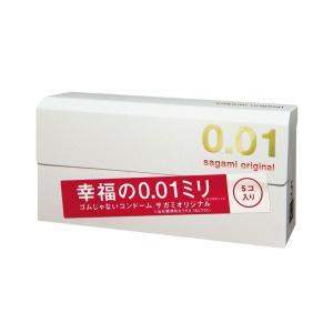 コンドーム サガミオリジナル 0.01 001 5個入  3/5より順次出荷 [数量限定 世界最薄 避妊具 希少 限定 sagami original condom さがみ](4974234619245)|cosme-market