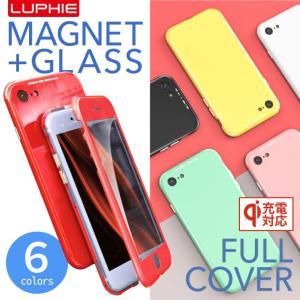 iPhoneXS Max 360°フルカバー マグネット式ケース 強化ガラス iPhoneX iPhone8 iPhoneXR iPhone8Plus Candycolors LUPHIE ルフィ 正規品 cosme-market