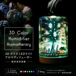 加湿器 卓上 クリスマス 卓上 イルミネーション 水溶性アロマOK LEDランプ ガラス 気化式 超音波式 おしゃれ きれい インスタ映え スチーム|cosme-market