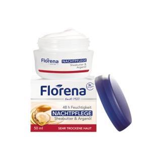 フロレナ フェイス ナイトクリーム シアバター&アルガンオイル 50ml[8340]|cosme-nana