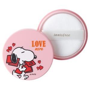 イニスフリー ノーシーバム ミネラルパウダー 限定品 スヌーピーコラボ 5g ピンク[6208][P2] 郵パケ送料無料|cosme-nana