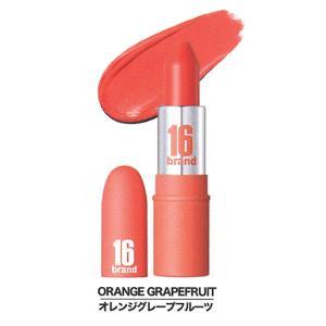 16ブランド フルーツチューエディション リップスティック オレンジグレープフルーツ 16brand シックスティーンブランド FRUIT-CHU EDITION 韓国コスメ cosme-s