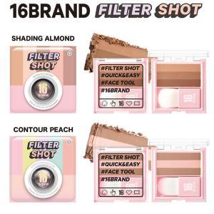 16brand 16ブランド フィルターショット 全2色 シェーディングアーモンド コントゥアピーチ 韓国コスメ 韓国化粧品|cosme-s