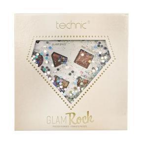 techinic テクニック 16色のアイシャドウパレット GLAM ROCK グラムロック イギリス コスメブランド ブラウン ラメマット シルバー UK発 レッド|cosme-s