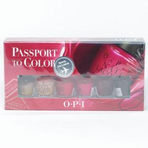【訳あり商品】 OPI パスポート トゥ カラー ネイルラッカー 6点セット|cosme